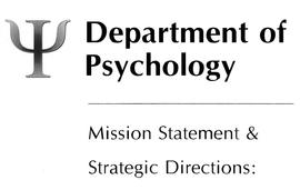 Department of Psychology fonds.