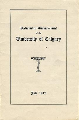 University of Calgary (1912-1915) collection.