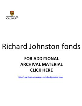 Richard Johnston fonds.