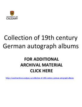Collection of 19th century German autograph albums.