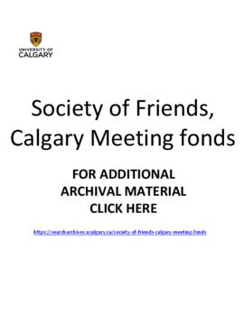 Society of Friends, Calgary Meeting fonds.