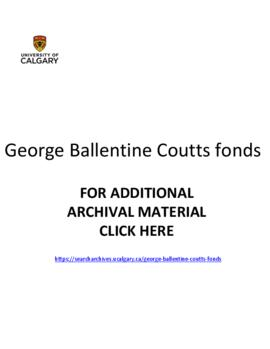George Ballentine Coutts fonds.