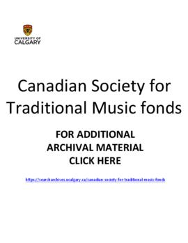 Canadian Society for Traditional Music fonds.