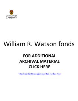 William R. Watson fonds.