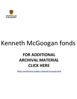 Kenneth McGoogan fonds.